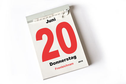 Fronleichnam Kalenderblatt
