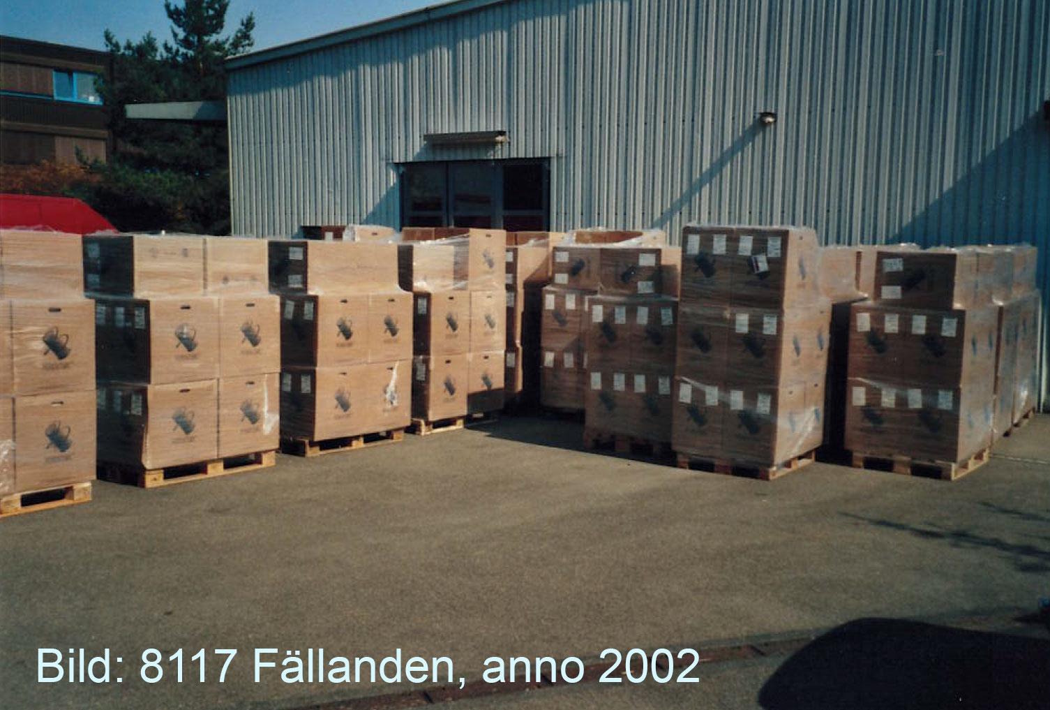 Nomacorc-Lieferung 2002
