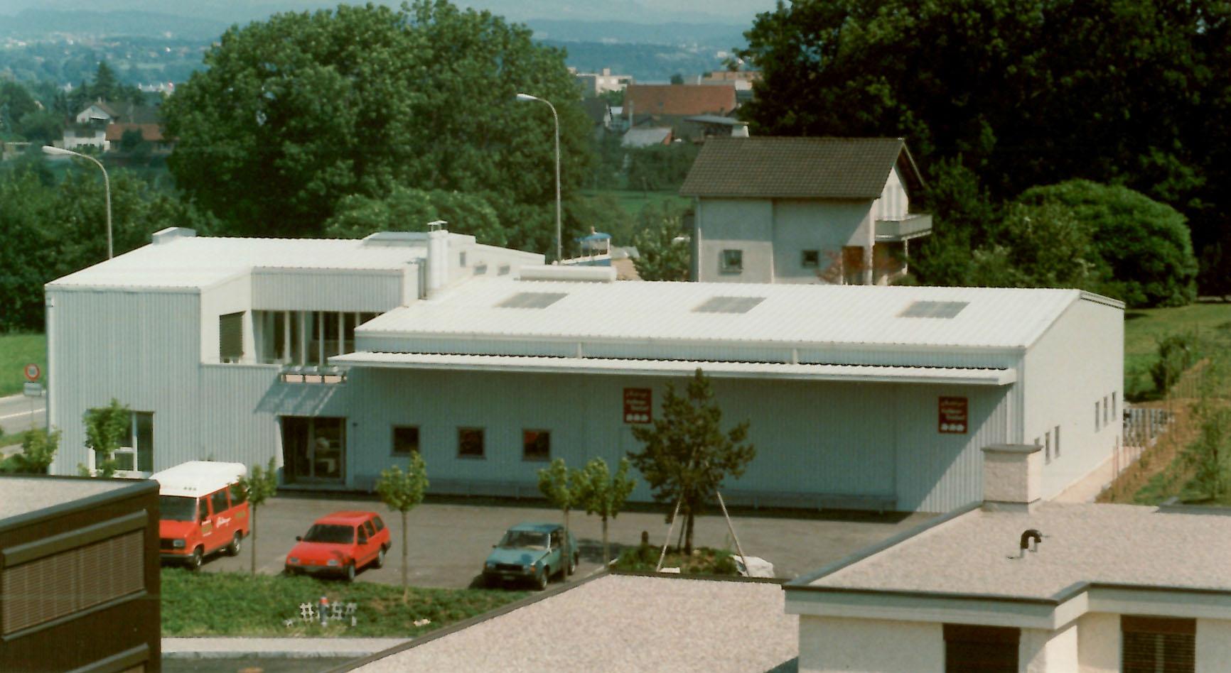 Der Firmensitz in Fällanden ZH, 80er Jahre