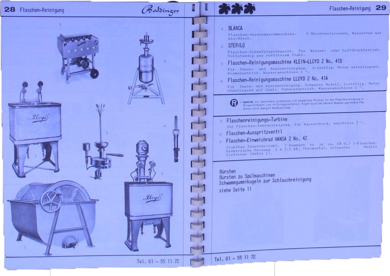 Einblick Katalog No 1 Max Baldinger SA