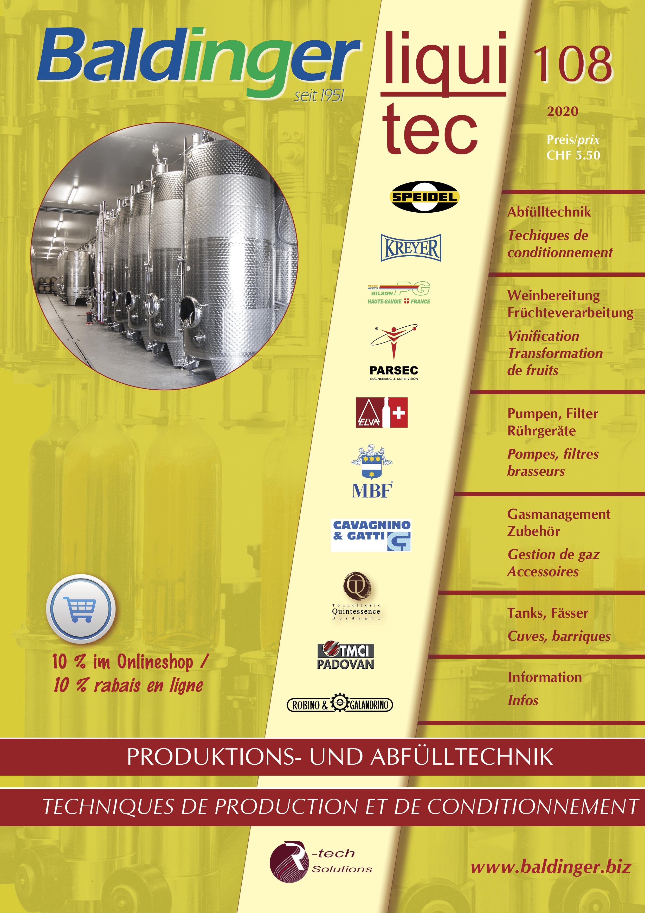 Katalog No. 108 Abfülltechnik