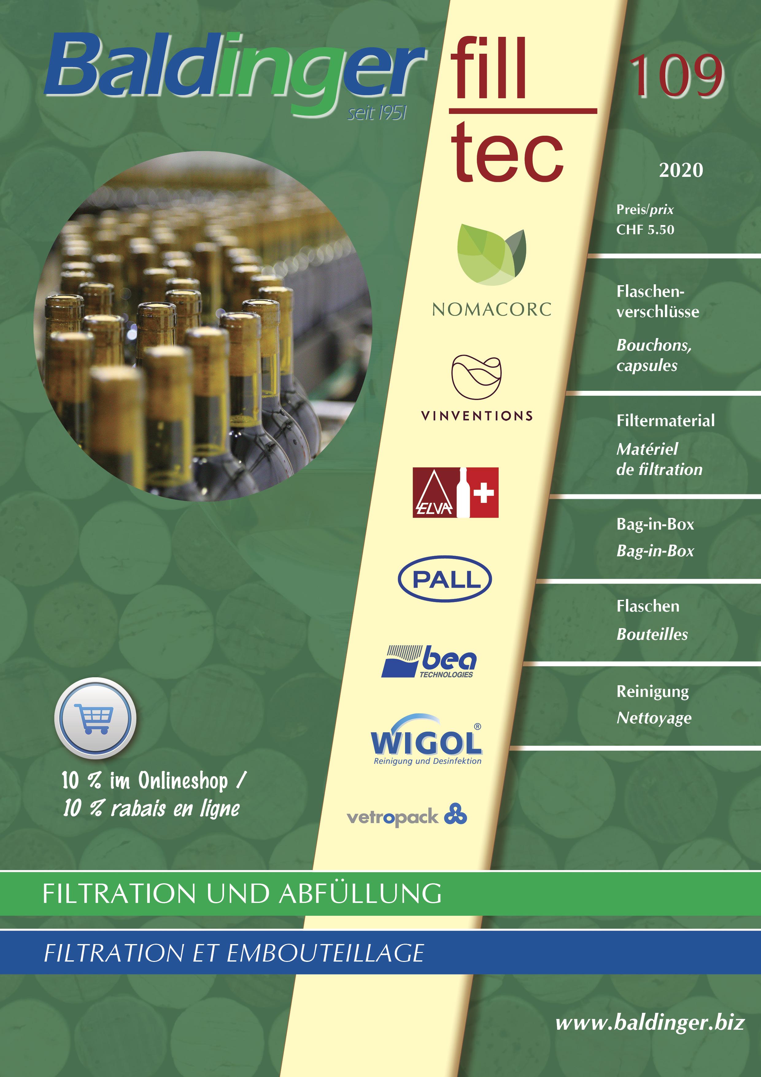 Katalog 109 - Verschlüsse, Filtermaterial, Flaschen