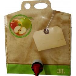 3 l outre Pouch-up poche de 3 litres, avec sujet jus de pomme, VITOP