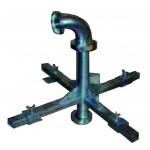 Dreibein Halterung DIN 50 für Loch 600 x 600 mm max