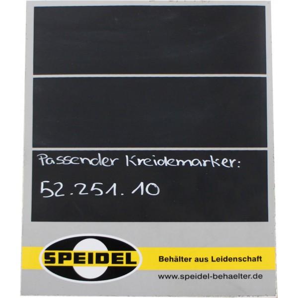 Aufkleber Tank, zum selber beschriften mit Kreidemarker mit Speidel Logo