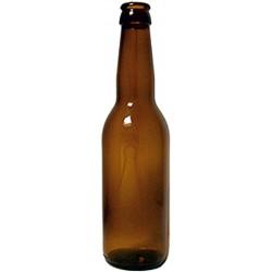 bouteilles à bière Longneck 220 g 33 cl marron / bague couronne 26 mm Usage unique petite palette