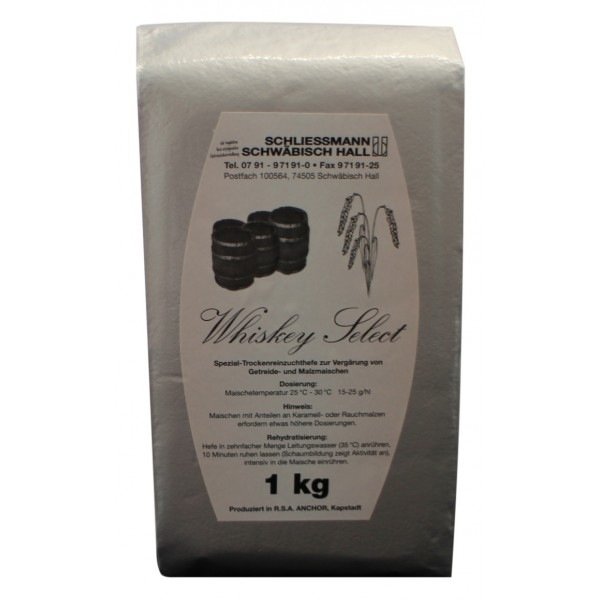 Whiskey select, 1 kg Trocken-Reinzuchthefe