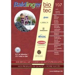 Catalogue Baldinger, no 107 Matériel pour le traitement de votre vendange / récolte 2019