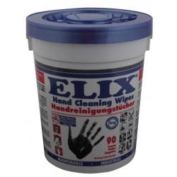 Elix - lingettes pour le  nettoyage des mains & outils bidon avec 90 lingettes
