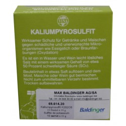 Sulfite de potassium  sachet 10 g 10 sachets à  10 g