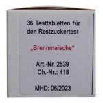 Restzuckerbestimmung Obst 0-10 g / l; 36 Tabletten Schnelltest, UN 1823, II