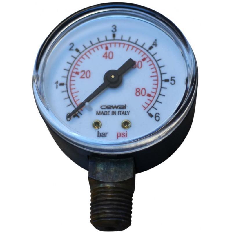 Manometer zu Filter FZ 10/20 Anschluss \'unten\' 0-6 bar, 1/4 \'\'G AG ...