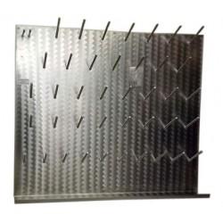 Tableau de rangement pour la  robinetterie, avec 13 crochets et un porte-verre; 400 x 500 mm