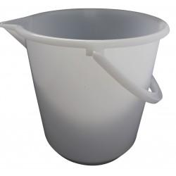 Messeimer aus Kunststoff 10.5 Liter mit Bodenreifen