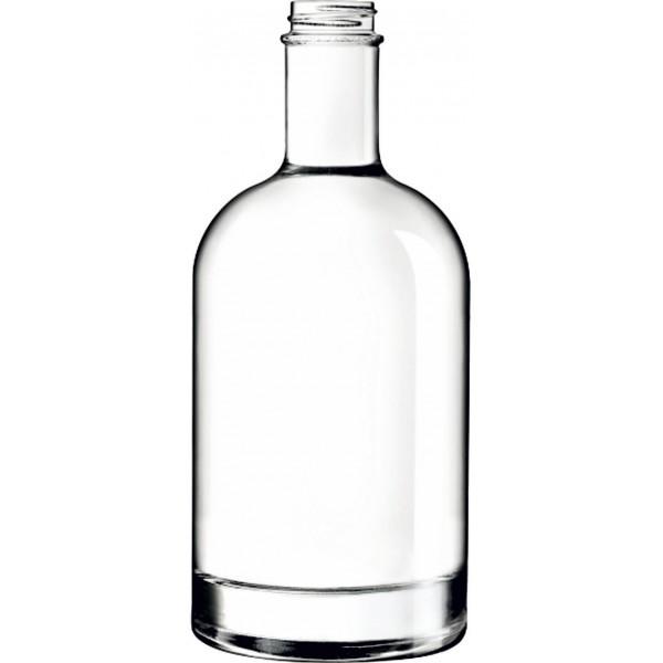 Spirituosenflaschen OSLO 70 cl weiss Gewindemündung GCMI400/33