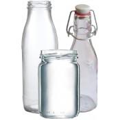 weisse Bügelflaschen, Weithalsgläser (Palettenverkauf)