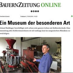 Die Kellereimaschinen-Sammlung in den Medien