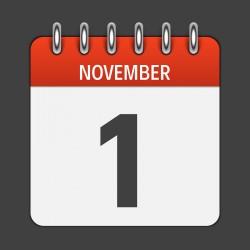 Allerheiligen 1. November: geschlossen
