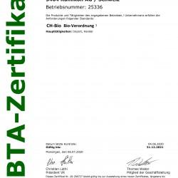 Erneuerung der Zertifizierung nach Verordnung CH-BIO