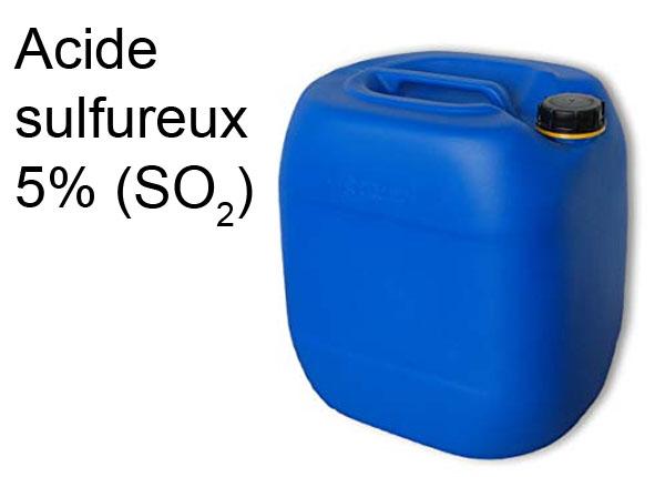 Acide sulfureux 5% (SO2)