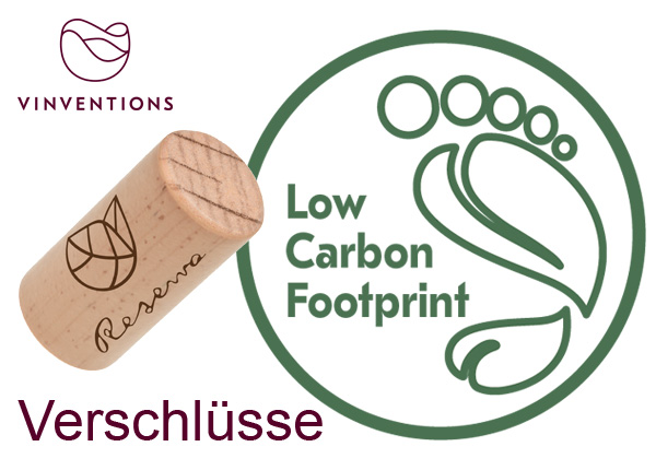 Nomacorc Select Green & Reserva optimaler Verschluss für Wein Low carbon footprint