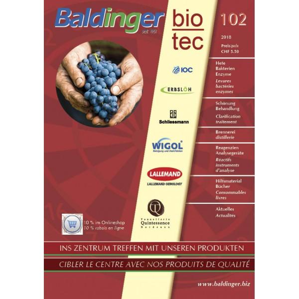 Katalog Baldinger No 102 Verbrauchsmaterial im Herbst 2018