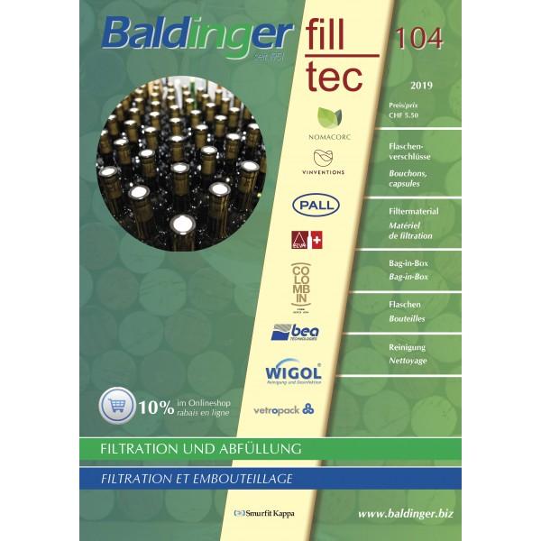 Katalog Baldinger No 104Filtration, Abfüllung,Verschliessen - 2019